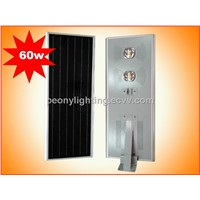 60W Bridgelux Chip LED and High Quality All in One Solar Street Light