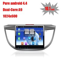 "10.1"" Android 4.4 auto gps navigation for Honda CRV 2013 with 1024 * 600 resolution and DVR"