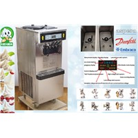 Double Compressor Ice Cream Machine for Franchise with 304 Stainless Steel Casing