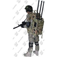 High Power Manpack RF Cellphone Bomb Jammer for Military Security Deployment