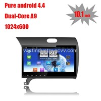 "10.1"" Android 4.4 China auto radio for Kia k3 with 1024 * 600 resolution and DVR camera"