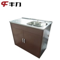 Knock Down Structure Modern Design Metal Kitchen Cabinet