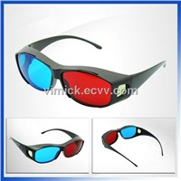 Latest Red Blue 3D glasses for 3D movies/games