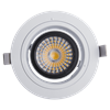 Isolated Driver COB LED Down Light/Ajustable Recessed LED Downlight For House