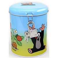 round money saving tin can,coin tin box