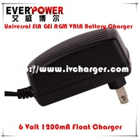 CE Approved 6v 4ah lead acid battery charger with 1.2amp