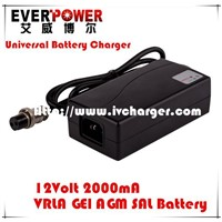 Desktop 12v 2a lead acid agm/gel/sla/vrla ac dc car battery charger