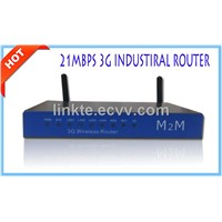 Industrial 21Mbps cellular LTE 3G Wireless Router openwrrt with Sim slot