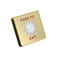 Waterproof Piezoelectric Exit Button with LED