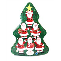 Christmas tree metal decoration tin can