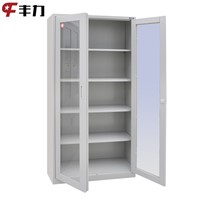 knocked down swing and sliding glass door photo storage cabinet