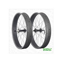 26 inch Carbon Fat Bike wheelset 100mm Width 25mm Depth Hookless Tubeless Compatible