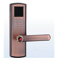 Fingerprint door lockopened by fingerprint and password
