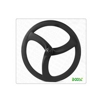 Tri-3spokes carbon fiber steering wheel 20mm width 56mm depth tubular wheel
