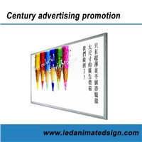 High Brightness Silver Aluminum Light Box with LED Lighting