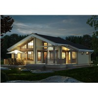 fashion wooden house wooden villa manufacture