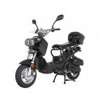 Sunny Powersports MC-D150L BLACK Gas Ruckus 150cc Moped Scooter w/ Trunk