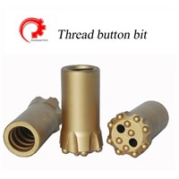 Thread button bit R38,T38,T45,T51