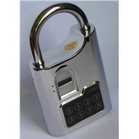 Fingerprint biometric padlock used in   apartment and condo; guests, renters, landlords and realtors