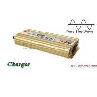 High Quality Pure Sine Wave Built-In Charger DC to AC Continuous 1000W Peak 2000 Watt Power Inverter