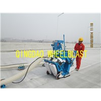 Floor surface treatment shot blasting machine