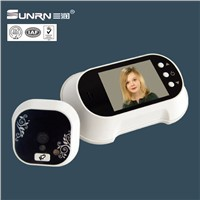 "Low power consumption and long-life 2.8"" LCD digital door viewer"