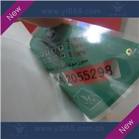 Transparent PVC car window sticker