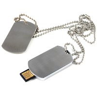 Army Dog Tag/Metal/Necklace USB Flash Drives