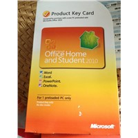 Office 2010 Home and Student Product key card,1PC/1User PKC English Utility Software Wholesaler