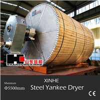 Steel Yankee dryer made by Shandong Xinhe and Italian Comer S.P.A.