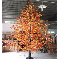 Colorful decorative led maple tree light