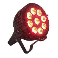 LED Flat Par Waterproof 9*15w RGBWA-UV 6 in 1 LDE Par Can Stage Effecting Lighting