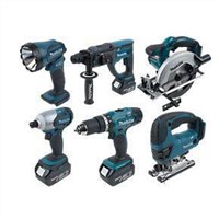 Makita DK1829 18V LXT 6 Piece Kit Power Tool Set