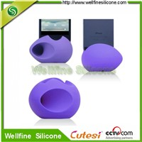 mini fashion egg shaped silicone speaker factory