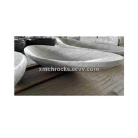 Carrara white marble bowl sink