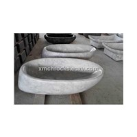 Carrara white marble vessel basin