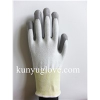 HPPE fiber cut resistant hand work gloves for construction work level 3