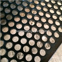 heavy perforated metal mesh/Back steel perforated metal mesh