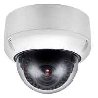 Dome IP Camera With Aluminium Alloy Housing