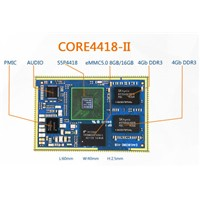 S5P4418 CPU board, expand HDMI, LVDS, G-bit Ethernet, RS485, CAN, GPS, WiFi, Android