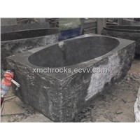 Blue stone  bathtub with natural split surface