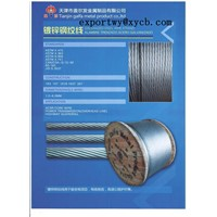 zinc-5%aluminum-mischmetal alloy-coated steel wire strand