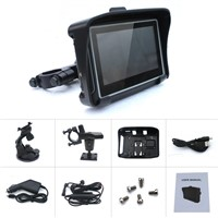 Motorcycle gps car navigator with charger cable bracket and cradle