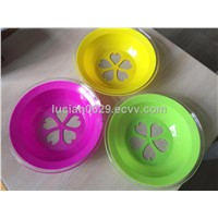 PS & PP two color dish plate mould, colored tableware moulds
