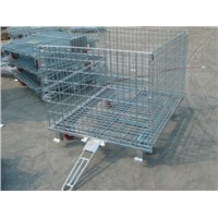 Foldable wire cage with tow bar