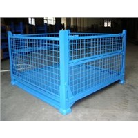 Wire steel storage container cage pallet PET-02