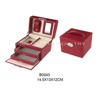 Red PU jewelry box(B0043)