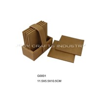 Promotional Leather Coaster Set(G0001)