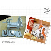 new tri-blade spiral vegetable slicer 110205