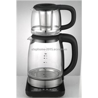 2.0L glass kettle with tea pot (Model No. M2001TG)